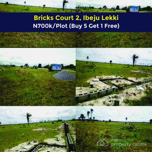 Plots of Land for Sale Near Lacampagne Tropicana (bricks Courts 2, Folu Ise, Ibeju Lekki) Buy 5 Get 1 Free, Folu Ise, Ibeju Lekki, Lagos, Residential Land for Sale