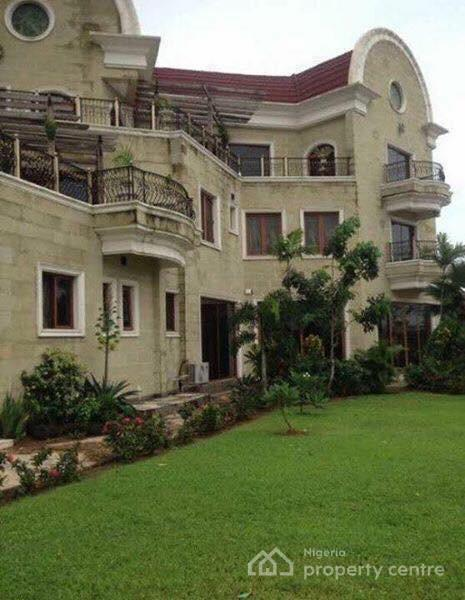 Exquisitely Finished,water Front,massive 8 Bedroom Mansion,well Furnished with Swimming Pool,jetty,green Lawn Area, Cctv, Etc, Zone J, Banana Island, Ikoyi, Lagos, Detached Duplex for Sale