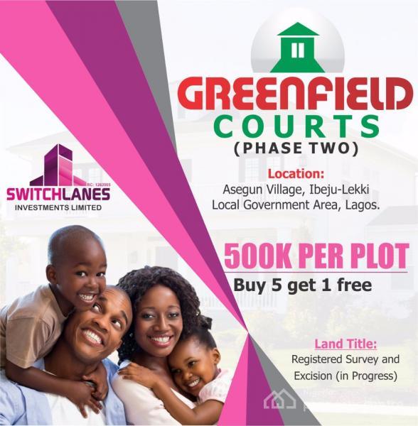 Plots of Land, Greenfield Courts Phase 2, Asegun Village, Ibeju Lekki, Lagos, Mixed-use Land for Sale