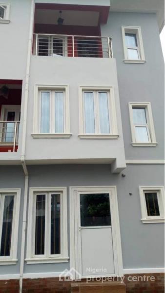 New Posh 4 Bedroom Semi-duplex with Bq (elite Crib), Atlantic Estate Before Chevron, Lekki Expressway, Lekki, Lagos, Terraced Duplex for Sale