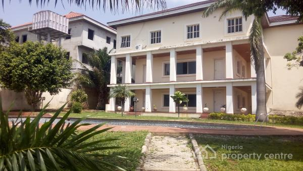 Top Notch N Lavishly Finished 7 Bedroom Ambassadorial House, with 2 Bedroom Chalet, Garden, Pool, Laundry Room, Green Areas, Maitama District, Abuja, Detached Duplex for Rent