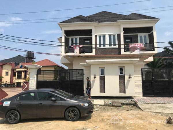 4 Bedroom Semi Detach  Duplex  with a Bq, Lafiaji, Lekki, Lagos, Semi-detached Duplex for Sale