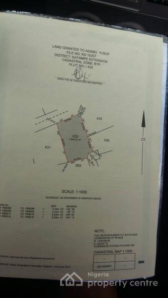 1600sqm Land, Katampe Extension, Katampe, Abuja, Residential Land for Sale