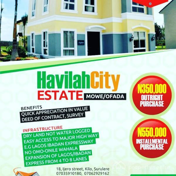 Lands, Mowe Ofada, Ogun, Residential Land for Sale