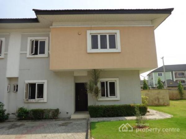 4 Bedroom Town House with All Rooms En Suit, Spacious Compound, Acadia Mews, Agungi, Lekki, Lagos, Terraced Duplex for Rent