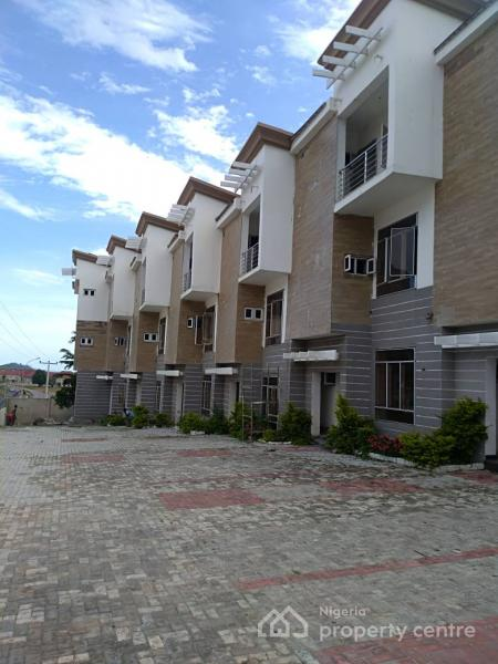 Luxury 4 Bedroom Terraced Duplex with a Servant Quarter, After Coza Church, Guzape District, Abuja, Terraced Duplex for Rent