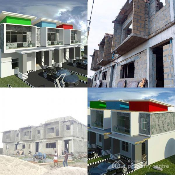 Off Plan, Well Structured 3 Bedroom Terrace Duplex with C of O, Behind Novare Shoprite Mall, Lekki, Lagos, Terraced Duplex for Sale