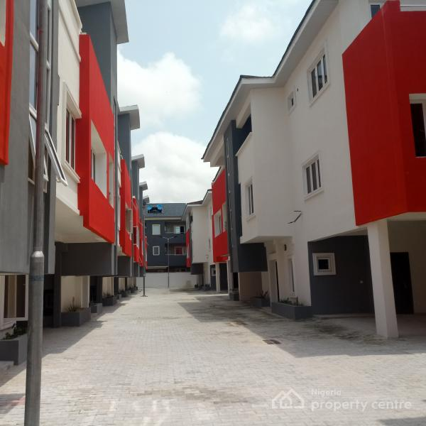 Charming and Expatriate Standard Luxury Serviced 4 Bedroom Terrace Duplex with Bq Features Fitted Kitchen24hours Power Ikaten3m, Ikate Elegushi Lekki, Ikate Elegushi, Lekki, Lagos, Terraced Duplex for Rent
