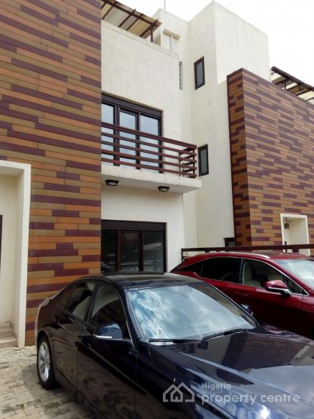 Luxury Serviced 4 Bedrooms Terraced Duplex with a Room Bq, Off Ibb Boulevard, Maitama District, Abuja, Terraced Duplex for Rent