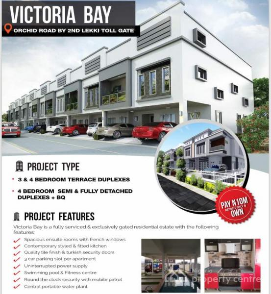 4 Bedroom Semi- Detached Duplex, Victoria Bay, 3 Mins From Lekki Conservation Center, Lekki, Lafiaji, Lekki, Lagos, Semi-detached Duplex for Sale