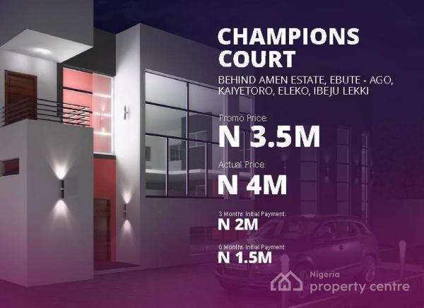 Champions Court, Behind Amen Estate, Ebute Ago- Kaiyetoro, Eleko, Ibeju, Lekki, Eleko, Ibeju Lekki, Lagos, Residential Land for Sale