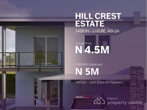 Hill Crest Estate, Sabon-lube, Lugbe District, Abuja, Residential Land for Sale