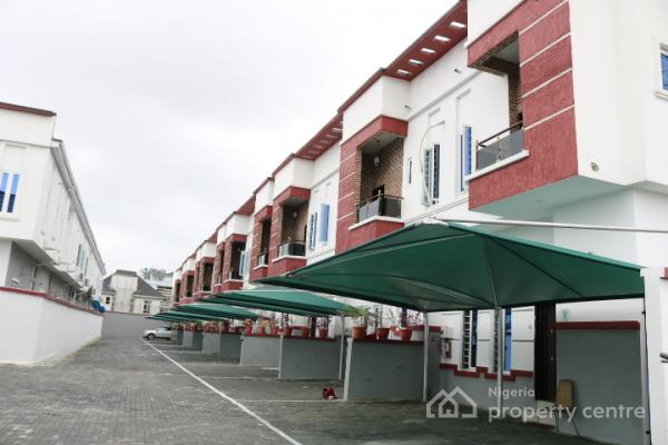Beautiful, Brand New and Well Finished 4 Bedroom Terrace Houses, Daniels Court,  By Chevron, Lafiaji, Lekki, Lagos, Terraced Duplex for Sale