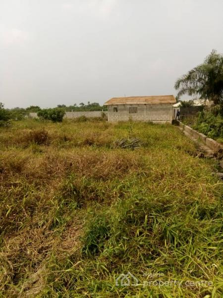 Full Plot of Land with One Room and Parlor Uncompleted House, Roofed, Green Land Estates Phase 2, Ogombo, Ajah, Lagos, Residential Land for Sale