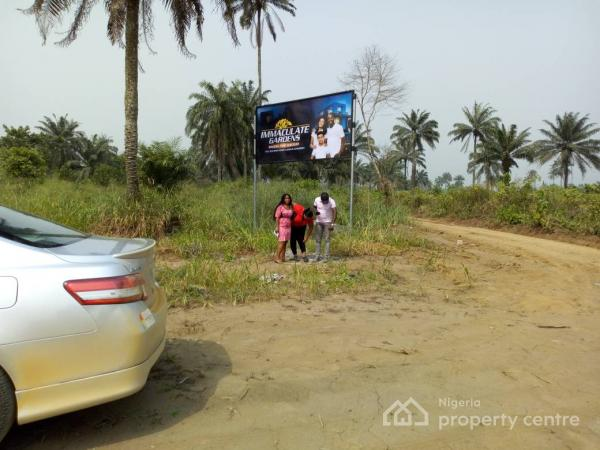 Land, Immaculate Gardens Estate, Omagwa Area,  About 15mins Drive to Airport, Omagwa, Port Harcourt, Rivers, Mixed-use Land for Sale