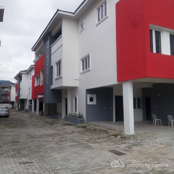 4 Bedroom (all En Suite with Wardrobe) Serviced Terrace Apartment with Parking Space for 2 Cars + Bq, Ikate Elegushi, Lekki, Lagos, Terraced Duplex for Rent