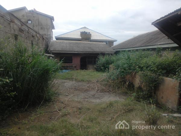 Half Plot of Land with Completed 3 Bedroom Flat, Fence with Gate, Ojokoro Road, Agric, Ikorodu, Lagos, Detached Bungalow for Sale