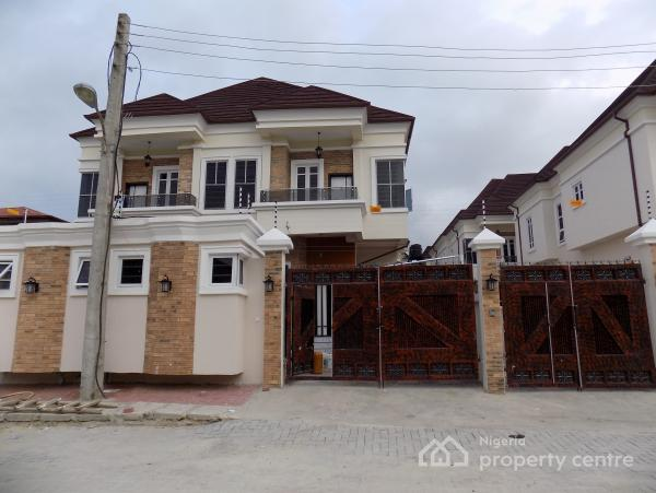 Exquisite 4 Bedroom Luxury Semi Detached Duplex with a Domestic Room + Amazing Features, Before Chevron Traffic Light, Idado, Lekki, Lagos, Semi-detached Duplex for Sale