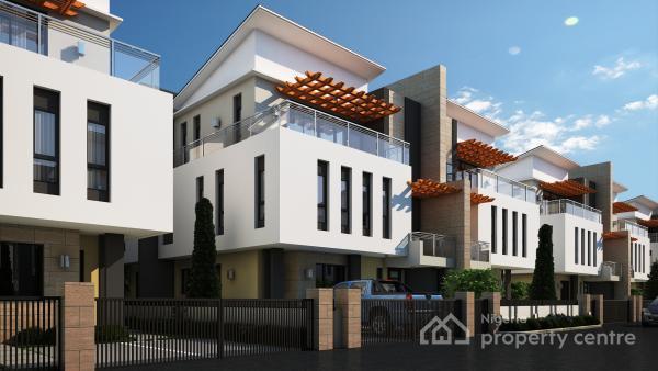 Luxury 3 Bedroom Quadruplex, Behind Ultra Modern Market, Karmo, Abuja, Terraced Duplex for Sale