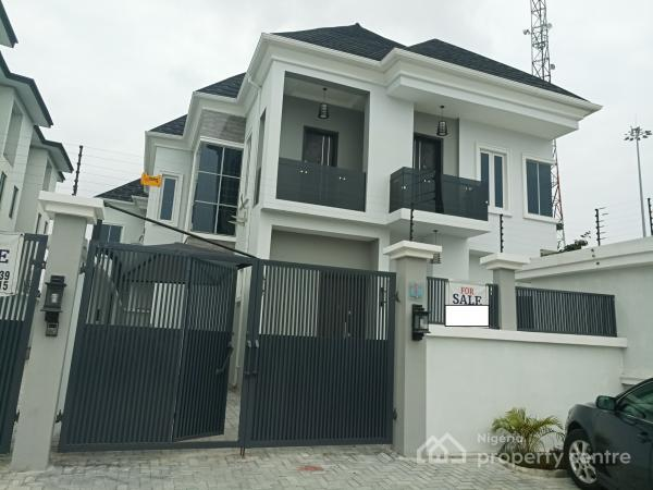 Spacious 4 Bedroom Semi-detached Duplex with Bq and Classy Finishing, Inside a Close in Chevron Alternative, Chevy View Estate, Lekki, Lagos, Semi-detached Duplex for Sale