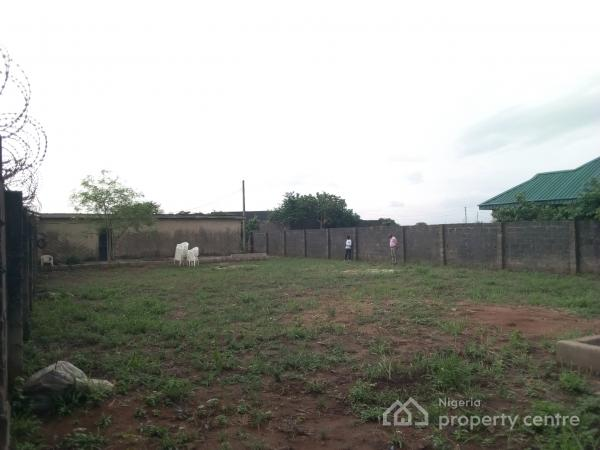 a Full Plot of Land Fenced Round with 3 Shops and One Toilet, Agunfoye, Igbogbo, Ikorodu, Lagos, Residential Land for Sale