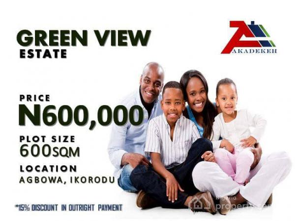 Plots of Land, Greenview Estate, Old Sagamu Rd, Agbowa, Ikorodu, Lagos, Mixed-use Land for Sale