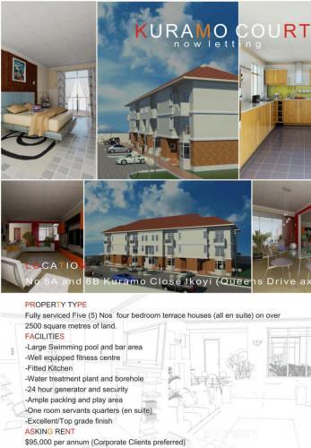 1: Luxury 4 Bedroom Terrace Houses For Rent In Ikoyi, Ikoyi, Lagos, 4 Bedroom Flat / Apartment For Rent
