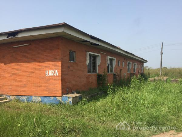 Fully Fenced 25 Acres of Land with 8 Structures, Mowe Ofada, Ogun, Mixed-use Land for Sale
