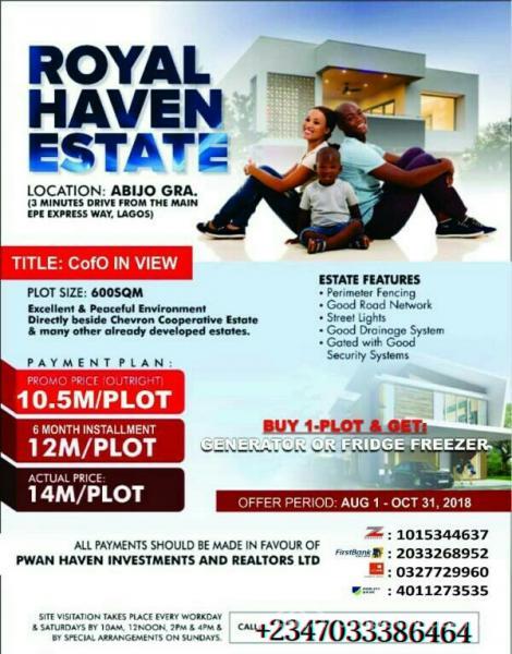 Plots of Land, Abijo Gra, Off Lekki-epe Express Way, Ajah, Lagos, Mixed-use Land for Sale