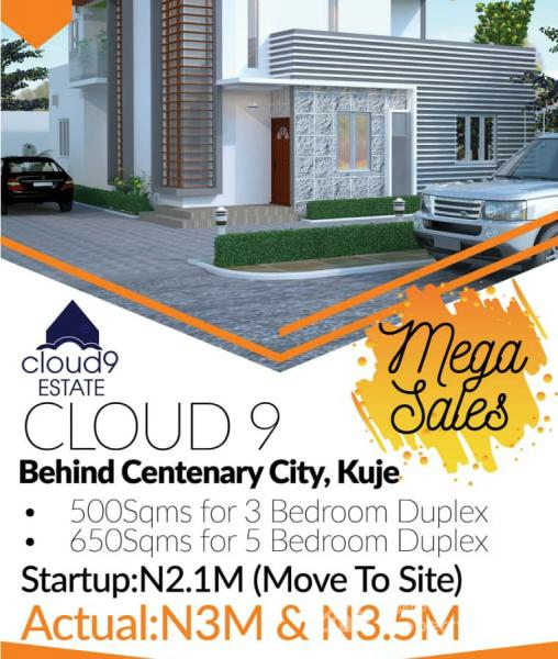 Earn Over 200% Roi When You Invest Into Cloud9 Estate, Behind Centenary City,  12 Minutes From The Airport., Kuje, Abuja, Mixed-use Land for Sale