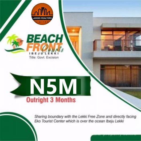 Promo!!!! Land at Beach Front  Courts, Ibeju-lekki for Sale, Ibeju Lekki, Lagos, Residential Land for Sale