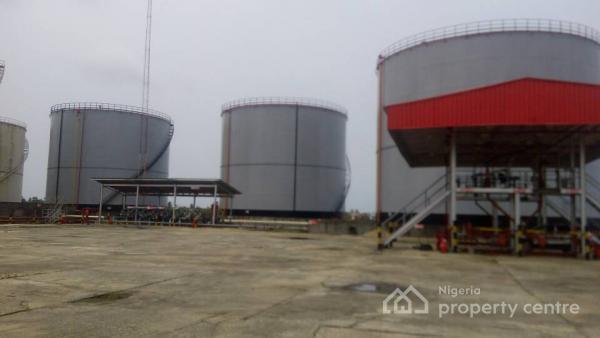 3 Tank Farm Measuring 35200mt with Private Jetty, Ijegun Egba, Satellite Town, Ojo, Lagos, Tank Farm for Sale