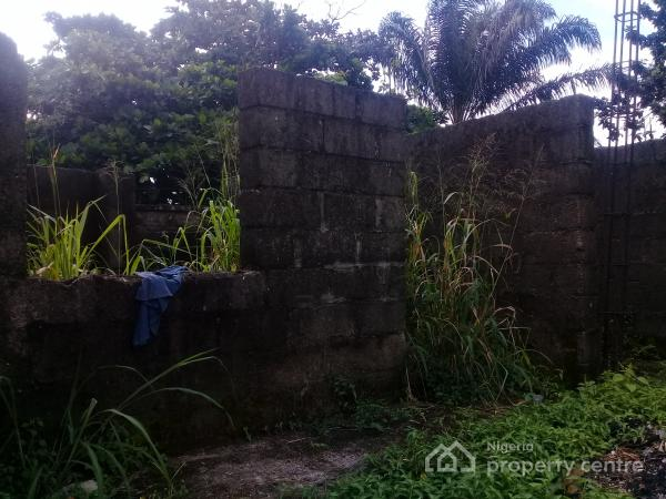 Well Located Residential Land with an Uncompleted Structure, By Arcania, Off Ada George Road, Rumuokwuota, Port Harcourt, Rivers, Residential Land for Sale