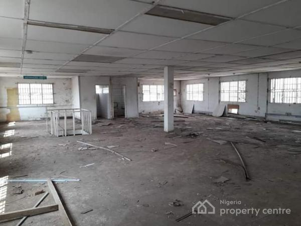 an Open Plan Space on 2 Floors  for Commercial Purpose Measuring 300sqm per Floor, Oju-ore, Along Idiroko Road, Sango Ota, Ogun, Office Space for Rent