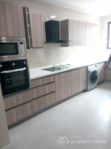 Newly Built and Superbly Finished 4 Bedroom Fully Serviced Apartment with 2 Rooms Bq,fitted Kitchen,swimming Pool,etc, Ikoyi, Lagos, Flat for Sale