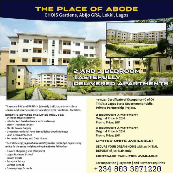 2 Bedroom Pay & Pack in Apartment with C of O, Abijo, Lekki, Lagos, Block of Flats for Sale