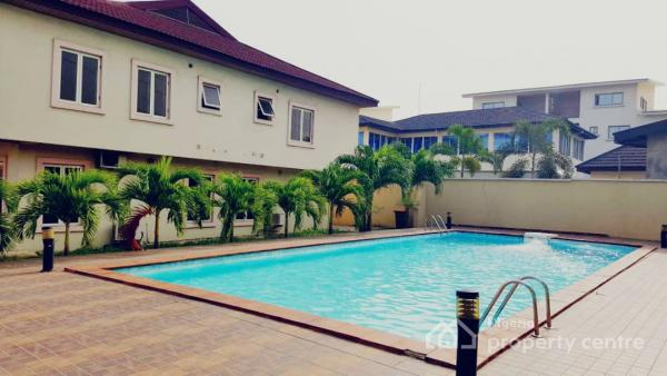 4 Bedroom Terrace Duplex Wit Bq and with a Swimming Pool Plus a Gym, Rahama Suites, Royal Palm Drive, Osborne Phase 2, Osborne, Ikoyi, Lagos, Terraced Duplex for Rent
