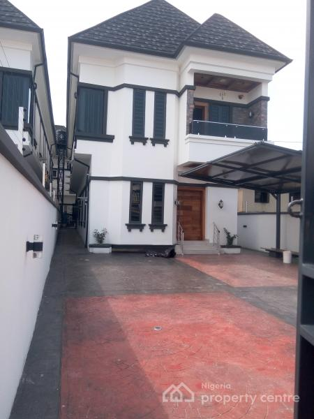 Newly Built and Excellently Finished 5 Bedroom Detached Duplex with a Room Bq, Fitted Kitchen, Etc., Osapa, Lekki, Lagos, Detached Duplex for Sale