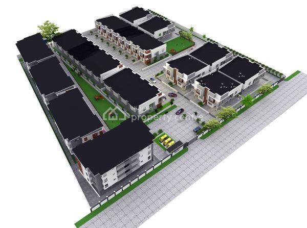 Off Plan - 4 Bedroom Semi-detached Duplex W 1 Room Bq, Silvercrest Estate, Orchid Hotel Road, Lafiaji, Lekki, Lagos, Semi-detached Duplex for Sale