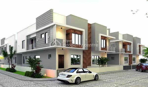 Off Plan - 4 Bedroom Terrace Duplex W 1 Room Bq, Silvercrest Estate, Orchid Hotel Road, Lafiaji, Lekki, Lagos, Terraced Duplex for Sale