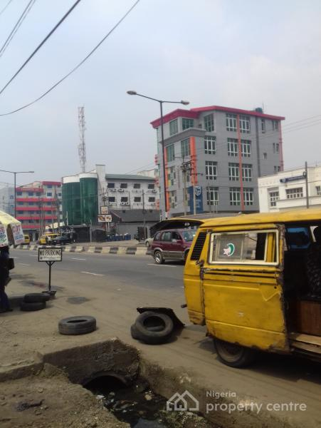 Prime Located 800sqm Bare Land, Fenced & Gated, Directly on Oba-akran Road, Oba Akran, Ikeja, Lagos, Commercial Land for Sale