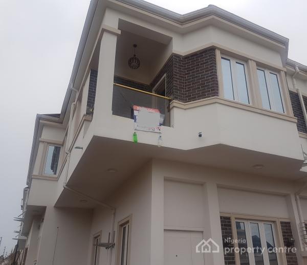 Brand New 4 Bedroom Semi Detached Duplex with Bq, Immediately After Chevron Toll, Lafiaji, Lekki, Lagos, Semi-detached Duplex for Sale