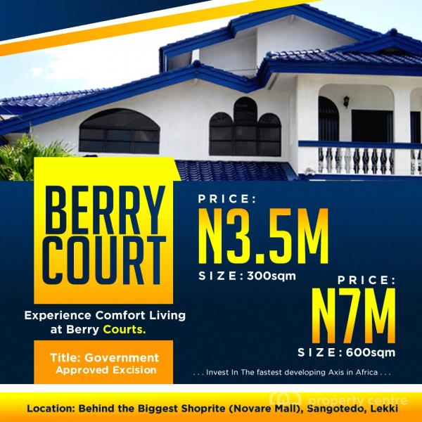 Amazing Phase 2 of Berry Court, Behind Novare Shoprite, Off Monastery Road, Sangotedo, Ajah, Lagos, Residential Land for Sale