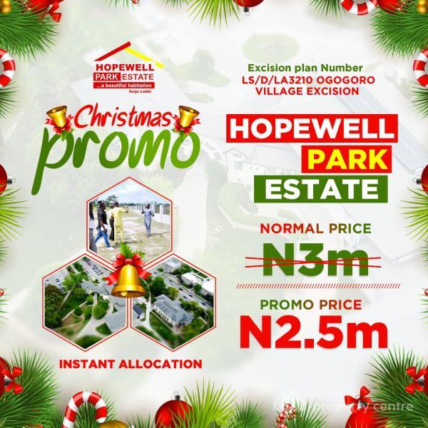 Hopewell Park Estate, Ogogoro Village, Akodo Ise, Ibeju Lekki, Lagos, Residential Land for Sale