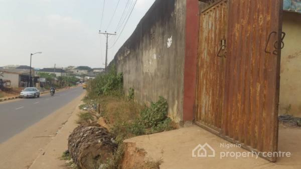 Standard Two Plots of Land Together  on Major Tarred Road Fenced with Gate Plus 3 Nos of Mini Flats Very Good Location, Ait Road, Agbado, Ijaiye, Lagos, Commercial Land for Sale