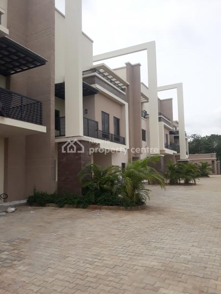 Porsche Designed & Classical Finished 4nos, 5bedrooms Terrace Duplex with Servant Quarters, Off Olusegun Obasanjo Way, Wuye, Abuja, Terraced Duplex for Sale