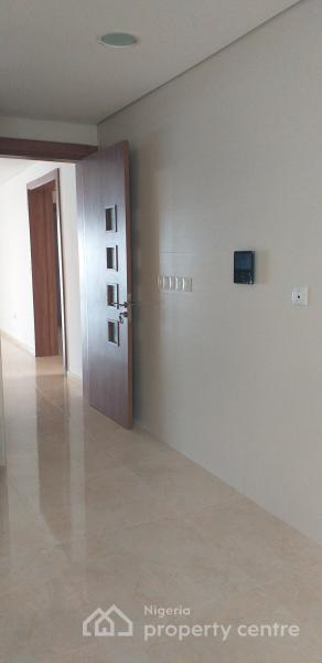 Luxury 3 Bedroom Water View Apartment Furnished with Cctv, Elevator, Fitted Kitchen, Fridge, Gas Cooker, Acs with a Room Bq, Off Lagoon Avenue, Osborne Foreshore Estate, Osborne, Ikoyi, Lagos, Flat for Rent