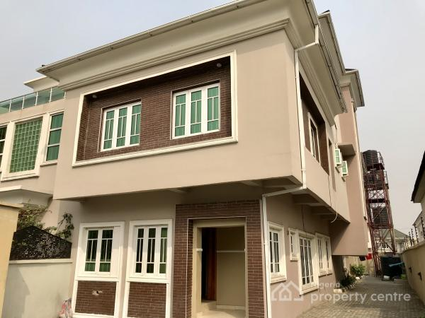 Well Renovated Four Bedroom Semi Detached House with a Room Bq, Lekki Phase 1, Lekki, Lagos, Semi-detached Duplex for Rent