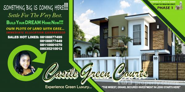 Castle Green Courts Sangotedo Valentine Promo Sales, Behind The New Shop Rite (novare Mall), Sharing The Same Fence with Pearl Gardens, Off Monstery Tarred Road, Sangotedo, Ajah, Lagos, Mixed-use Land for Sale