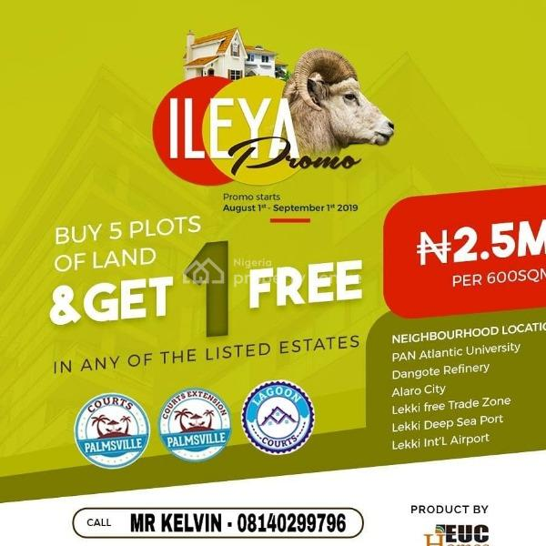 Orimedu Town Ibeju-lekki, Free Trade Zone Affordable Plots of Land  in a Cozy Estate for Sale., Orimedu, Ibeju Lekki, Lagos, Mixed-use Land for Sale
